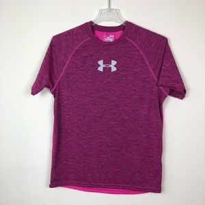Under Armour Men's Athletic workout Shirt Pink M